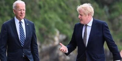 بايدن وجونسون يبحثان العلاقات الثنائية بين البلدين