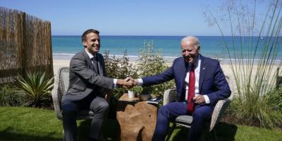 ماكرون: عودة السفير الفرنسي إلى واشنطن الأسبوع المقبل