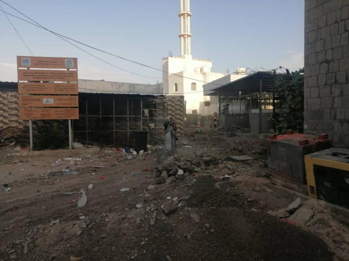 بدء ترميم أقسام مستشفى ردفان العام