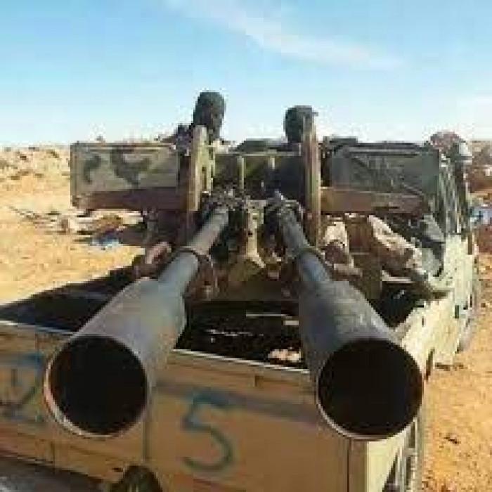نيران سلاح ثقيل بنقطة إخوانية في شقرة