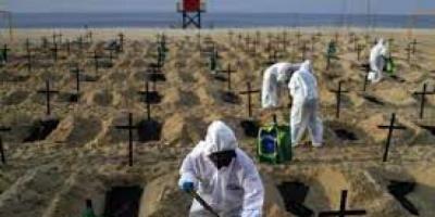 البرازيل: 15591 إصابة جديدة و451 وفاة بكورونا