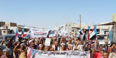 مسيرات وخطابات احتفالية بذكرى 14 أكتوبر في المحفد