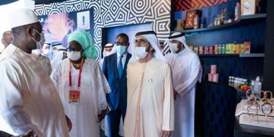 محمد بن راشد يلتقي رئيسي السنغال وسيراليون بإكسبو