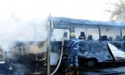 مقتل وإصابة 16 شخصًا في تفجير حافلة عسكرية بدمشق