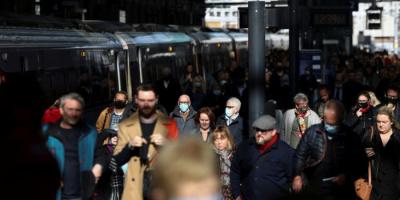 بريطانيا: ارتفاع معدل انتشار كورونا لأعلى مستوى منذ يناير
