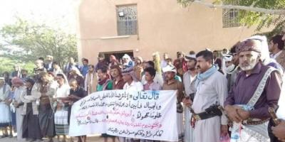 مئات المعتصمين في نصاب رفضا لسياسة الإفقار الإخوانية