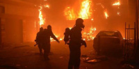 حريق ضخم بمجمع حافلات في العاصمة الأردنية
